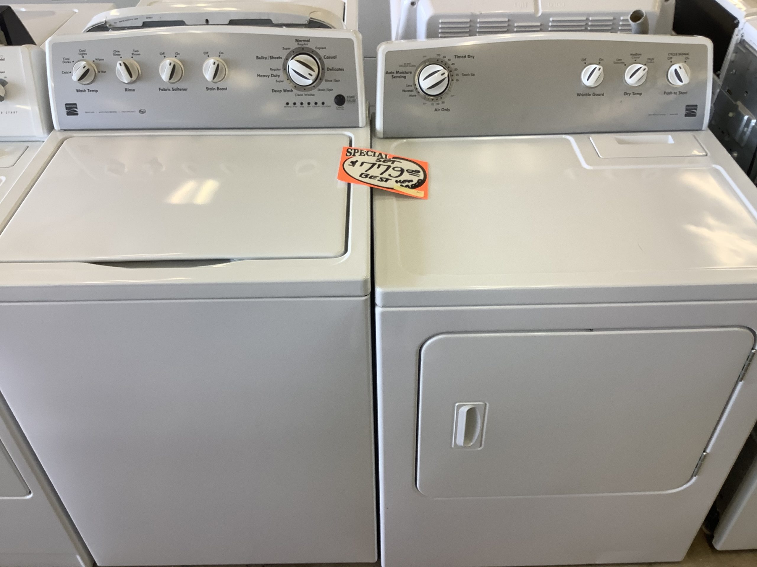 Kenmore washer and dryer set - USED
